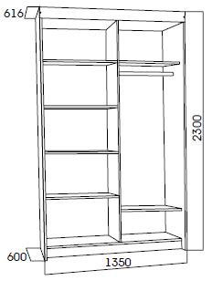 Схема шкаф-купе №11