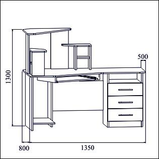 Стол комп КС-3